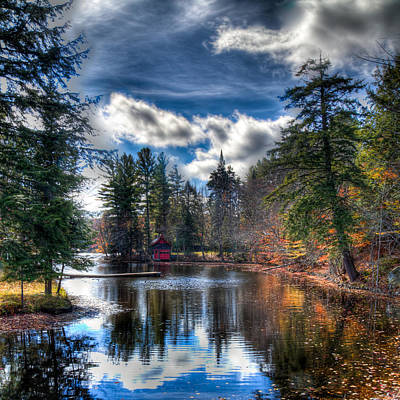 Photograph - Autumn Reflections At The Boathouse by David Patterson