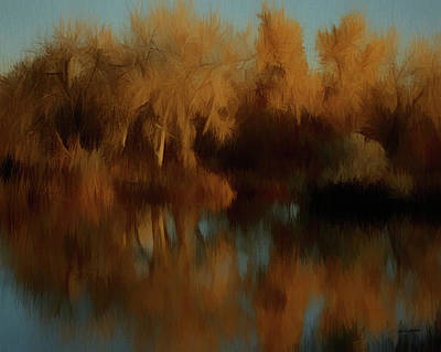 Digital Art - Autumn Reflections Da by Ernie Echols