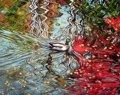 Painting - Autumn Reflections by Eileen Patten Oliver
