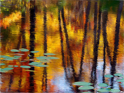 Wall Art - Painting - Autumn Reflections II by Ron Morecraft