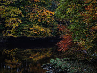 Photograph - Autumn Reflections In Irish River by James Truett