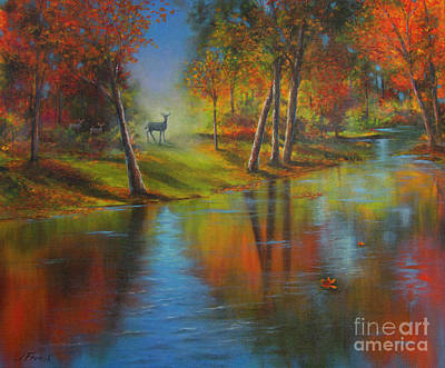 Painting - Autumn Reflections by Jeanette French