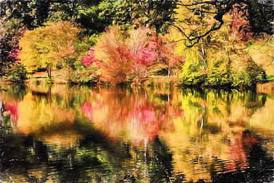 Digital Art - Autumn Reflections by John Haldane