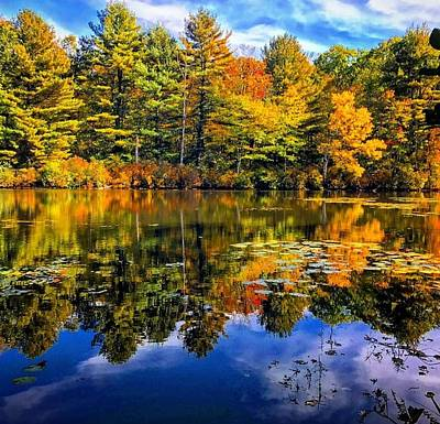 Photograph - Autumn Reflections  by Mike Valletta