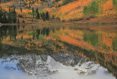 Photograph - Autumn Reflections On Maroon Lake by Dan Sproul