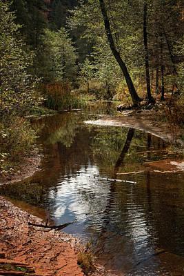 Photograph - Autumn Reflections On Oak Creek by Teresa Wilson