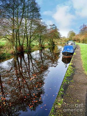 Photograph - Autumn Reflections On  The Leeds Liverpool Canal by Brenda Kean
