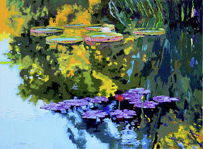 Painting - Autumn Reflections On The Pond by John Lautermilch
