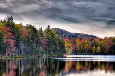 Reflection On Pond Photograph - Autumn Reflections On West Lake by David Patterson