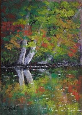 Autumn Reflections Art Print by Paula Ann Ford