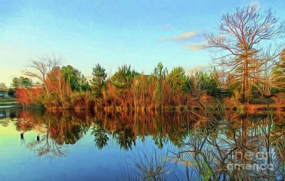 Photograph - Autumn Reflections by Sue Melvin
