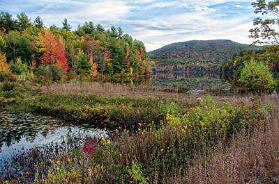 Photograph - Autumn Reflections Wachusett Mountain by Donna Doherty