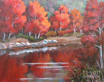 Autumn Reflexions 2 Art Print by Marta Styk