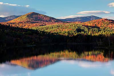 Photograph - Autumn Reservoir Reflections by Alan L Graham