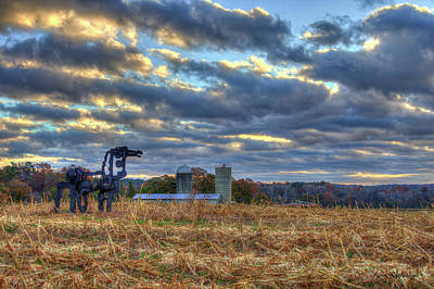 Autumn Rest The Iron Horse Sunrise Farm Art Art Print by Reid Callaway