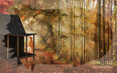 Broken Glass Painting - Autumn Retreat  by L Wright