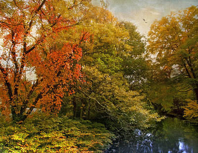 Red Leaf Digital Art - Autumn Riches by Jessica Jenney