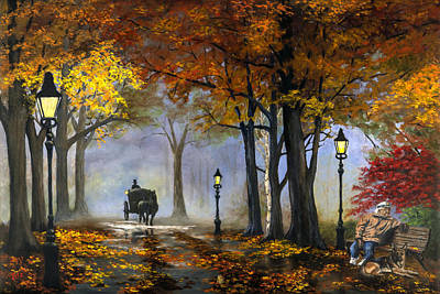 Painting - Autumn by Rick Fitzsimons
