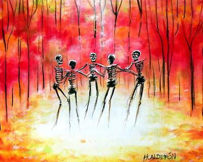 Autumn Ring Art Print by Heather Calderon