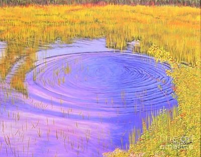 Autumn Ripples Art Print