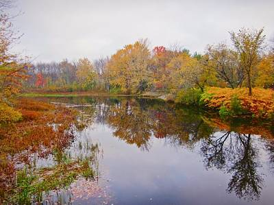 Photograph - Autumn River - Ashuelot River Park by MTBobbins Photography