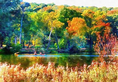 Photograph - Autumn River Bank by Dorothy Berry-Lound