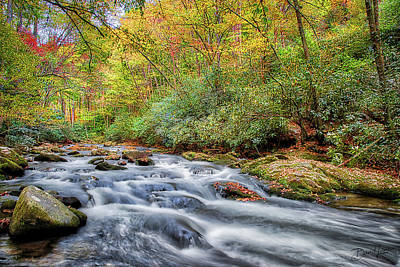 Photograph - Autumn River by David A Lane