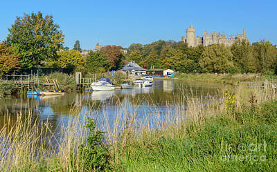 Arundel Castle Photograph - Autumn River by Geoff Smith