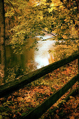 Photograph - Autumn River Glow by Jessica Jenney