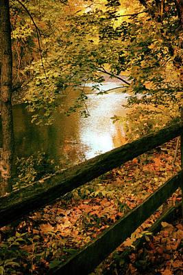 Digital Art - Autumn River Glow by Jessica Jenney