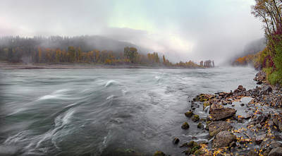 Photograph - Autumn River Mist by Leland D Howard