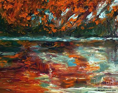 Painting - Autumn River Reflections by Laara WilliamSen
