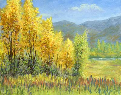 Autumn River Valley Art Print
