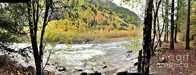 Photograph - Autumn River by Victor K