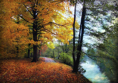 Water Reflections Photograph - Autumn River View by Jessica Jenney