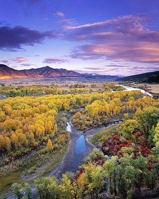 Photograph - Autumn River View by Leland D Howard
