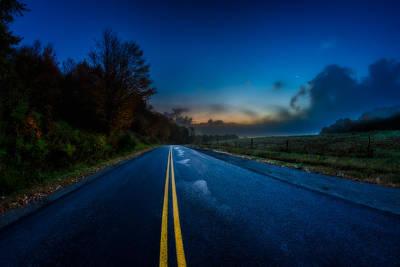 Photograph - Autumn Road by Chris Bordeleau