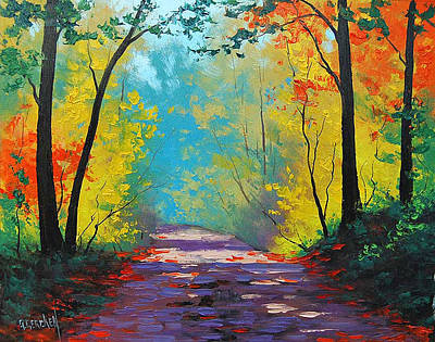Wall Deco Painting - Autumn Road by Graham Gercken