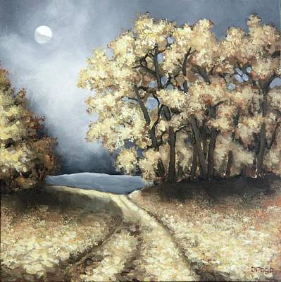 Painting - Autumn Road by Inese Poga