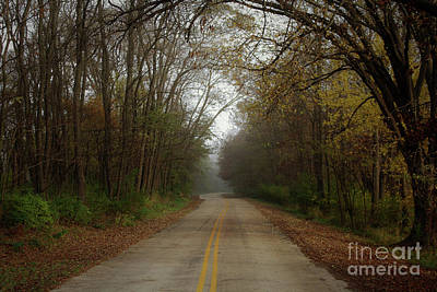 Photograph - Autumn Road by Inspired Arts