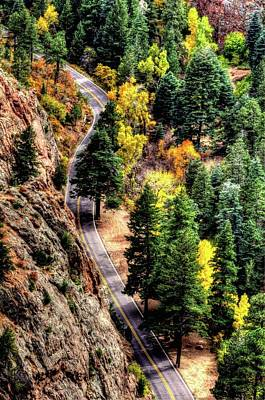 Photograph - Autumn Road by Jerry Sodorff