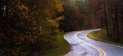 Photograph - Autumn Road Panorama by Parker Cunningham