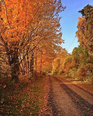 Photograph - Autumn Roads by Lori Strock