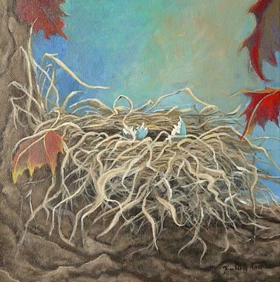 Autumn Robin Nest Original