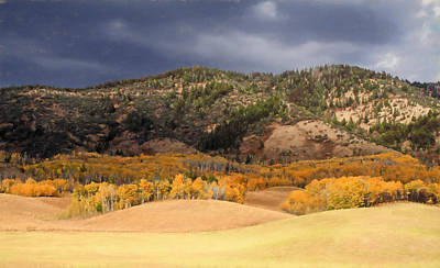 Photograph - Autumn Rolling Hills In Wyoming by Donna Kennedy