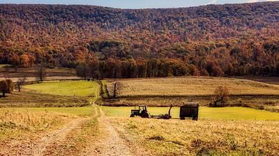 Photograph - Autumn Rural Scene - West Virginia by L O C