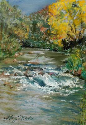 Autumn Rush Art Print by Mary Benke