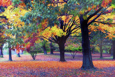 Golden Digital Art - Autumn Symphony by Jessica Jenney