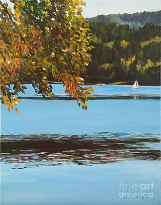Painting - Autumn Sailing by Suzanne Schaefer