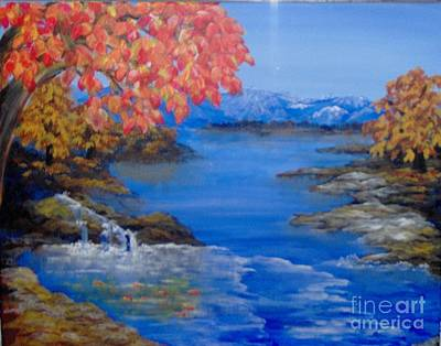 Art Print featuring the painting Autumn by Saundra Johnson